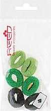 Духи, Парфюмерия, косметика Набор резинок для волос, 7576, 6шт, салатовый + зеленый + черный - Reed