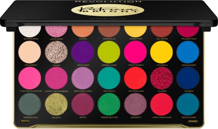 Палетка теней для век - Makeup Revolution X Patricia Bright Eyeshadow Palette