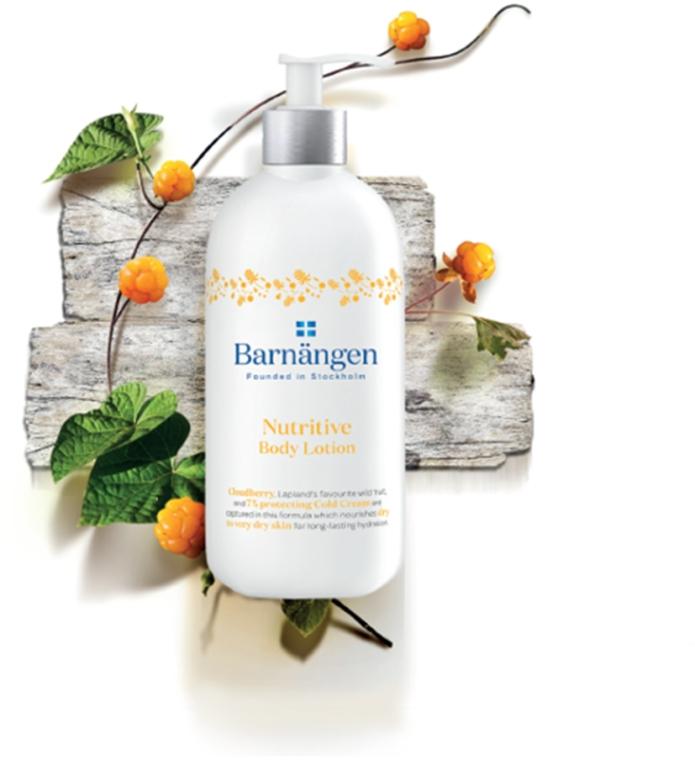 Лосьон для тела с морошкой для сухой и очень сухой кожи - Barnangen Nordic Care Nutritive Body Lotion (мини) — фото N3