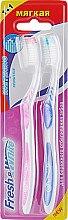 """Духи, Парфюмерия, косметика Набор """"Whitening + Sensitive"""", мягкая, розовая + синяя - Meggi Fresh&White"""