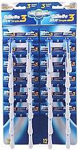Духи, Парфюмерия, косметика Набор одноразовых станков для бритья, 24шт - Gillette Blue 3