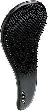 Духи, Парфюмерия, косметика Расчёска для пушистых и длинных волос, черная - Sibel D-Meli-Melo Detangling Brush