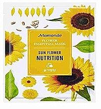 Духи, Парфюмерия, косметика Тканевая маска для лица - Mamonde Flower Essential Mask Sunflower Nutrition