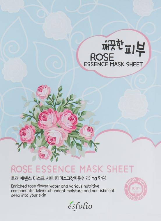 Тканевая маска c экстрактом розы - Esfolio Pure Skin Essence Rose Mask Sheet