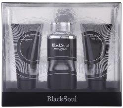 Духи, Парфюмерия, косметика Ted Lapidus Black Soul - Набор (edt/100ml + s/gel/100ml + ash/balm/100ml)