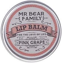 Духи, Парфюмерия, косметика Бальзам для губ - Mr. Bear Family Lip Balm Pink Grape