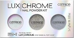 Парфумерія, косметика Набір пігментів для нігтів  - Catrice LuxChrome Nail Powder Kit