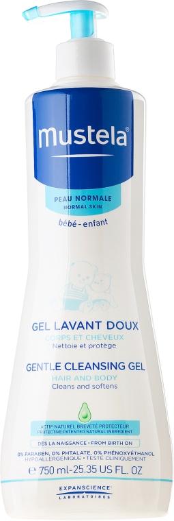 Нежный очищающий гель для волос и тела - Mustela Bebe Gentle Cleansing Gel