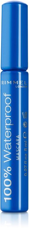 Водостойкая тушь для ресниц - Rimmel 100% Waterproof Mascara