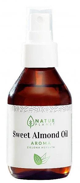 Масло сладкого миндаля ароматом зеленого чая - Natur Planet Sweet Almond Oil Aroma Green Tea