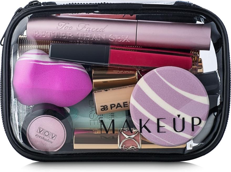 """Косметичка прозрачная """"Visible Bag"""" 15x10x5см (без наполнения) - Makeup"""