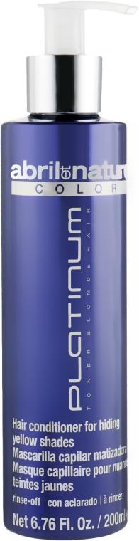 Маска с антижелтым эффектом - Abril et Nature Color Platinum Toner Blonde Hair