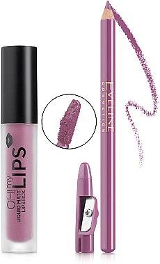 Набор - Eveline Cosmetics Oh! My Lips 06 Cashmere Rose (lipstick/4,5 ml + lip/liner/1,2 g) — фото N2