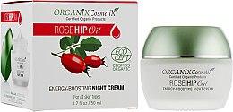 Духи, Парфюмерия, косметика Ночной крем для лица - Organix Cosmetix Rose Hip Oil Energy-boosting Night Cream