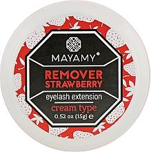 Духи, Парфюмерия, косметика Ремувер для ресниц кремовый - Mayamy Cream Type Remover Strawberry