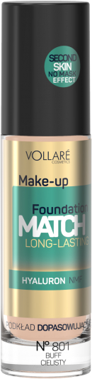 Тональный крем с гиалуроном - Vollare Cosmetics Make Up Foundation Match Long-Lasting