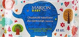 Духи, Парфюмерия, косметика Салфетки влажные для младенцев, 63шт - Marion