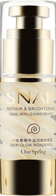 Крем для кожи вокруг глаз с фильтратом улитки - BioAqua One Spring Snail Moisturizing Eye Cream