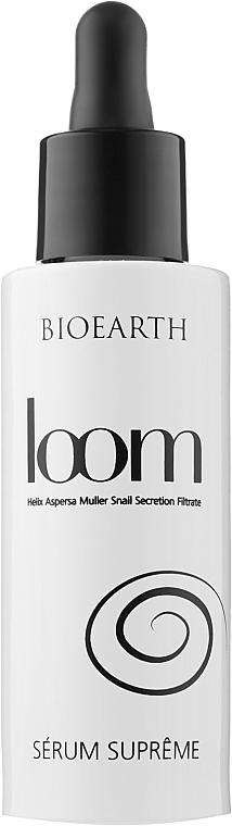 Сыворотка для лица с экстрактом слизи улитки - Bioearth Loom Supreme Serum