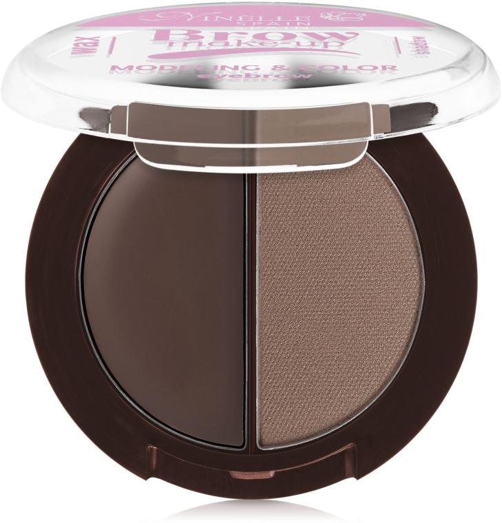 Палетка для моделирования бровей (воск + тени) - Ninelle Brow Make-Up