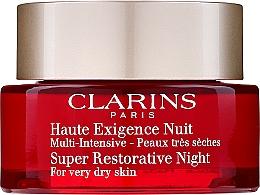 Духи, Парфюмерия, косметика Ночной крем - Clarins Super Restorative Night Wear Very Dry Skin