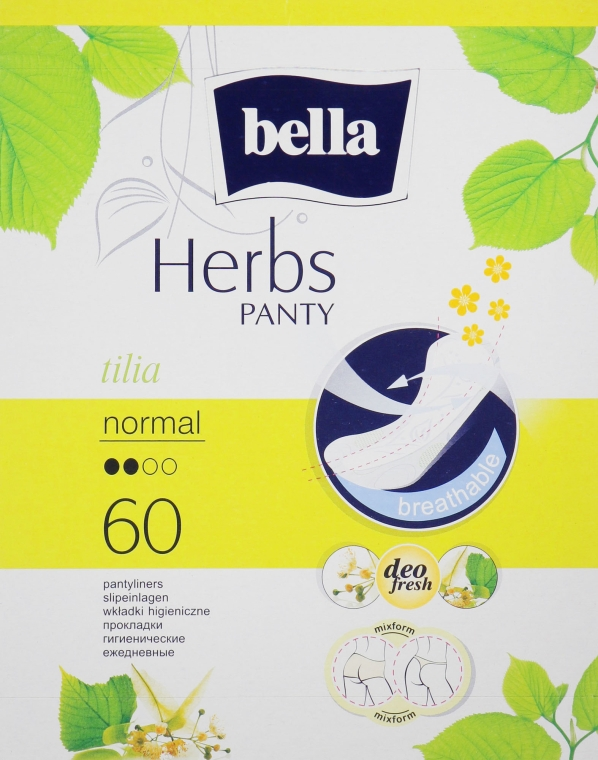 Прокладки Panty Herbs Tilia, 60шт - Bella
