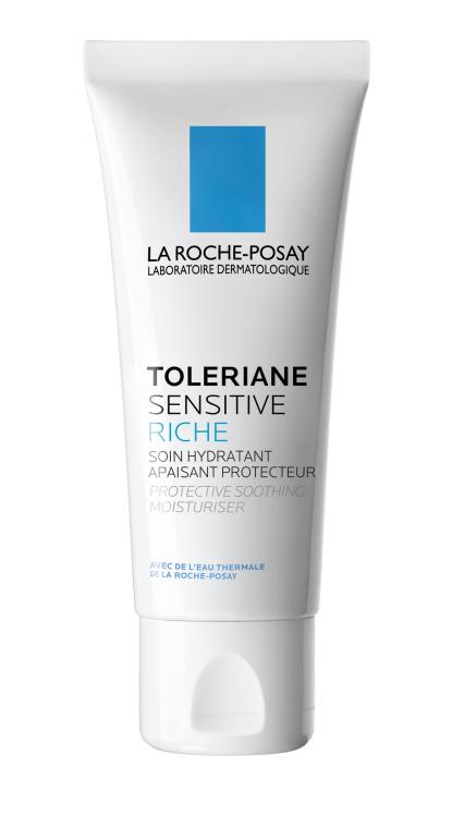 Пребиотический увлажняющий крем для защиты и успокоения кожи лица - La Roche-Posay Toleriane Sensitive Riche