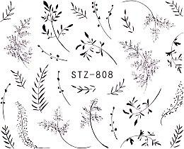 Духи, Парфюмерия, косметика Наклейки для ногтей STZ -808a - Vizavi Professional