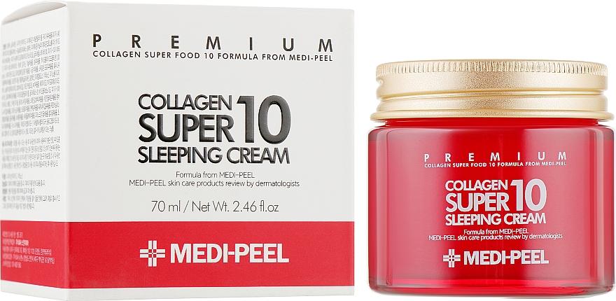 Омолаживающий ночной крем для лица с коллагеном - Medi Peel Collagen Super10 Sleeping Cream