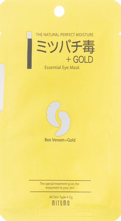 "Маска под глаза против морщин ""Золото + Пчелиный яд"" - Mitomo Essence Eye Mask Gold + Beevenom"