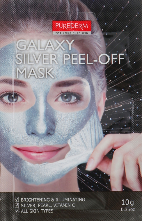 "Маска-пилинг для лица ""Серебряная"" - Purederm Galaxy Silver Peel-Off Mask"
