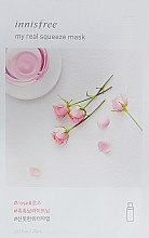 Духи, Парфюмерия, косметика Тканевая маска с экстрактом розы - Innisfree It's real squeeze mask-rose