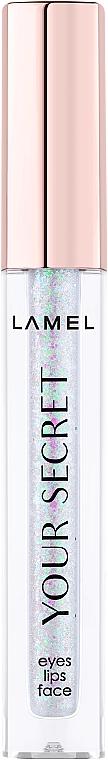 Жидкий глиттер для макияжа - Lamel Professional Your Secret Luquid Glitters