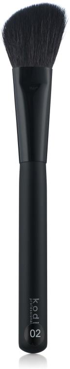 Скошенная кисть для румян №02 - Kodi Professional