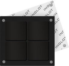 Парфумерія, косметика Футляр для косметики квадратний - Inglot Freedom System Square Palette-4