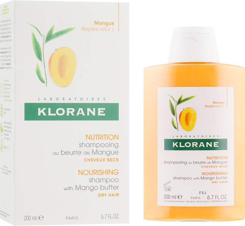 Шампунь с маслом Манго - Klorane Shampoo with Mango Butter