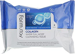 Духи, Парфюмерия, косметика Салфетки для очищения с коллагеном - FarmStay Collagen Water Full Moist Cleansing Tissue