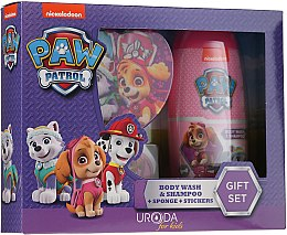 Духи, Парфюмерия, косметика Набор - Uroda Paw Patrol Girl (sh/gel/250ml + sponge + stickers)