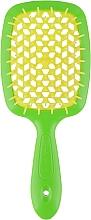Духи, Парфюмерия, косметика Расческа для волос, зеленый с желтым - Janeke Superbrush