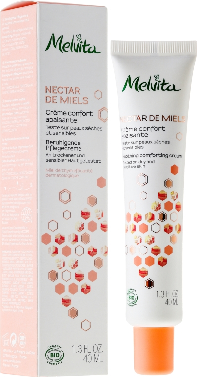 """Успокаивающий крем для лица """"Медовый нектар"""" - Melvita Nectar de Miels Crème Confort Apaisante"""