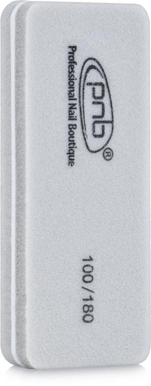 Мини-баф для ногтей 100/180 Grey, прямоугольный - PNB