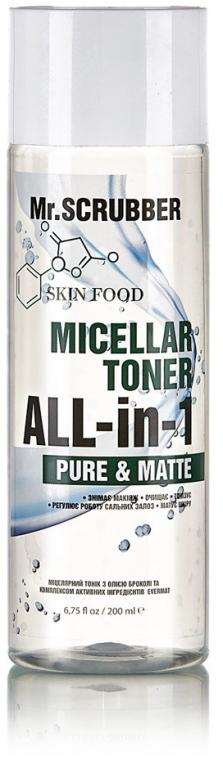 Мицеллярный тоник с маслом брокколи - Mr.Scrubber Skin Food Micellar Toner Pure & Matte
