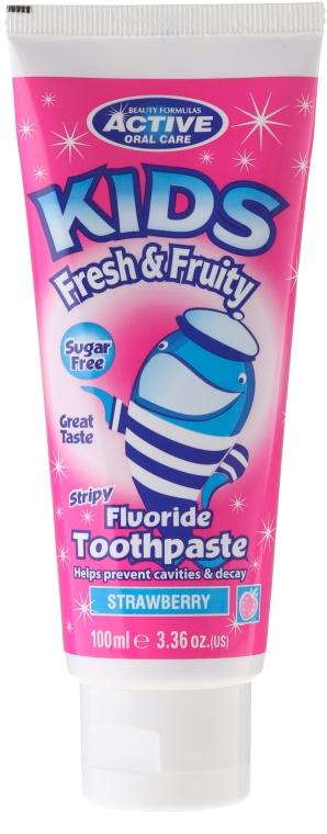 Детская зубная паста без сахара с ароматом клубники - Beauty Formulas Active Oral Care