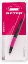 Парфумерія, косметика Пінцет для видалення волосся з косими кінчиками у блістері, рожевий - Beter Viva Revolution