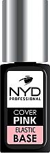 Духи, Парфюмерия, косметика Базовое каучуковое покрытие для ногтей - NYD Professional Cover Pink Elastic Base