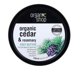 "Духи, Парфюмерия, косметика Масло для ног ""Голубой кедр"" - Organic shop Foot Butter Organic Cedar and Rose"