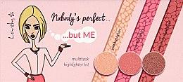 Духи, Парфюмерия, косметика Палетка хайлайтеров - Lovely Nobody's Perfect Highlighter Palette