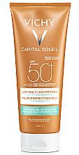 Духи, Парфюмерия, косметика Солнцезащитное водостойкое молочко с гиалуроновой кислотой и технологией мульти-защита, SPF50+ - Vichy Capital Soleil Beach Protect Multi-Protection Milk SPF 50