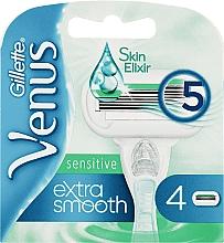 Духи, Парфюмерия, косметика Сменные кассеты для бритья, 4 шт. - Gillette Venus Extra Smooth Sensitive