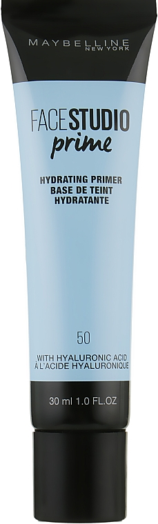 Корректирующий праймер под макияж - Maybelline New York Face Studio Prime 50 Hydrating